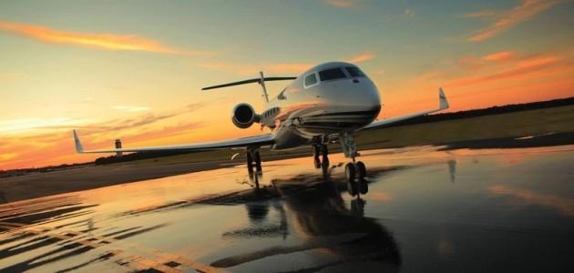 Jet privé d'aviation d'affaire