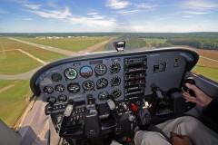 Formation au pilotage dans un cockpit
